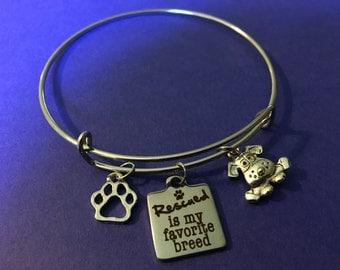 Rescue dog charm bracelet