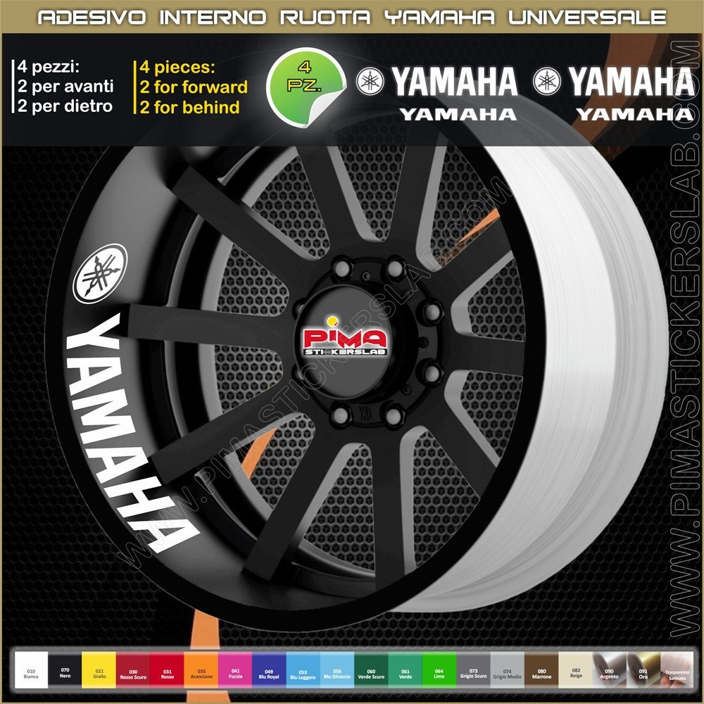 Strisce Adesive Cerchio Yamaha R1 R6 Xj6 Mt 07 Mt 09 Interno