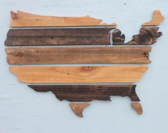 Wooden United States Of America