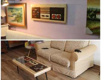 Nintendo NES coffee table / wall art