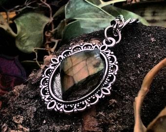 Labradorite specimen necklace