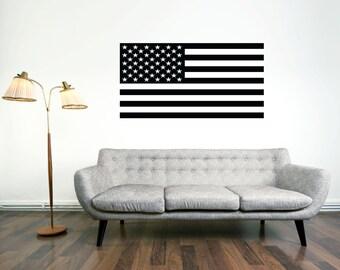 American USA Flag Wall Vinyl, USA Wall Decal sticker, United States of America Flag, Wall Decal, Flag Decal Sticker
