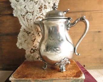Antique Silver Creamer Pairpoint Quadruple Silver Plate Creamer