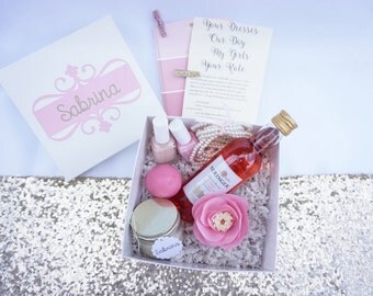 White Bridesmaid Proposal Box