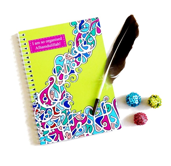 Islamic Calligraphy Notebook A5 Planner Jotter Organiser