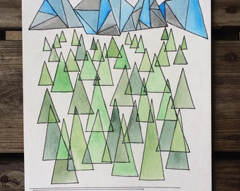 Geometric Adventure Painting