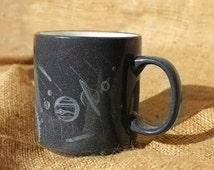 Ceramic cup,Space,black cup,gift for him,unisex,gray,Universe,Planet,custom cup,clay mug,tea cup,custom gift,stoneware,pottery cup,
