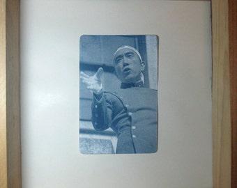 Yukio Mishima Cyanotype Card