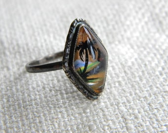 Vintage 1920s Butterfly Wings RING ~ matching necklace available - inA1601