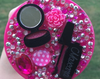 Pink Make Up Bling Themed Water Bottle