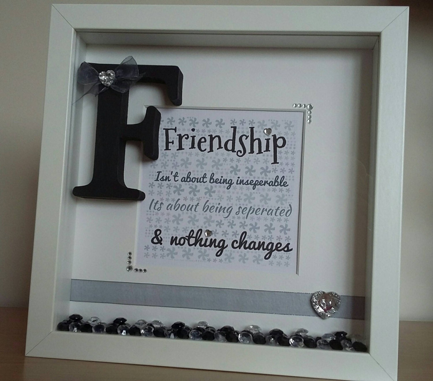 Friendship Picture Frames With Quotes: Handmade, Personalised Friend, Friendship Quote, Gift