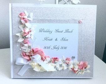 Personalised Handmade Wedding  Guest Book ,unique guest book ,luxury guest book ,Wedding Album ,