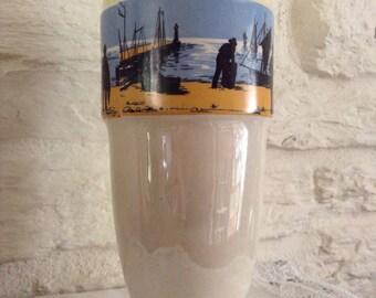 Wonderful Cornish Themed Seaside/Fishermens/Coastal Vase/Antique