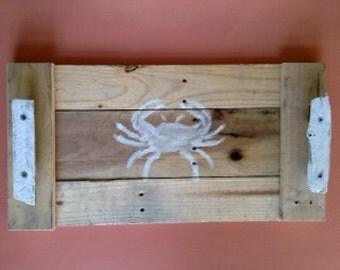 Coastal Cottage Tray- Crab