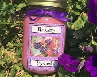 Farmers market Blackberry candle
