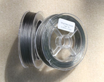 Tiger Tail 0.38mm x 100m Silver/Grey Beading Thread