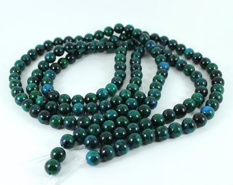 Natural Chrysocolla 8mm Round Beads - Full Strand