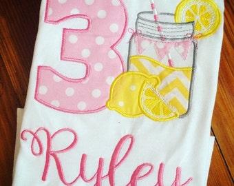 Lemonade Mason Jar Birthday Shirt