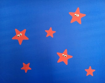 STARS with GOOGLY EYES Tent Stickers! Decorate and personalise your tent! Waterproof, Ideal for festivals & camping