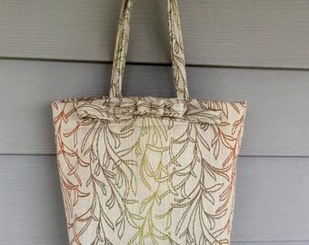Beige Fabric Handbag