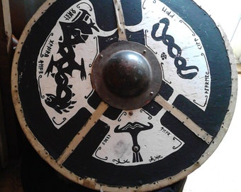 Reenactment sheild-  Nordic. Heavy build. and light  --(Exsample--  not for sale)     but can build for 350-400 if requested. long lasting!