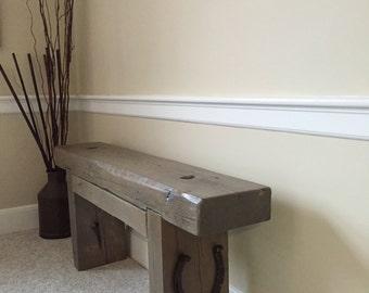 Rustic reclaimed bench