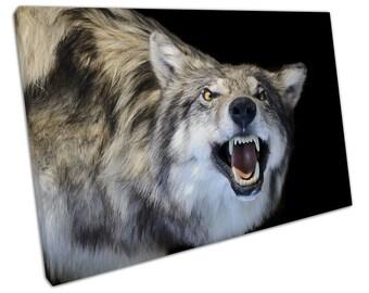 Grey WOLF Canvas WALL ART C2101
