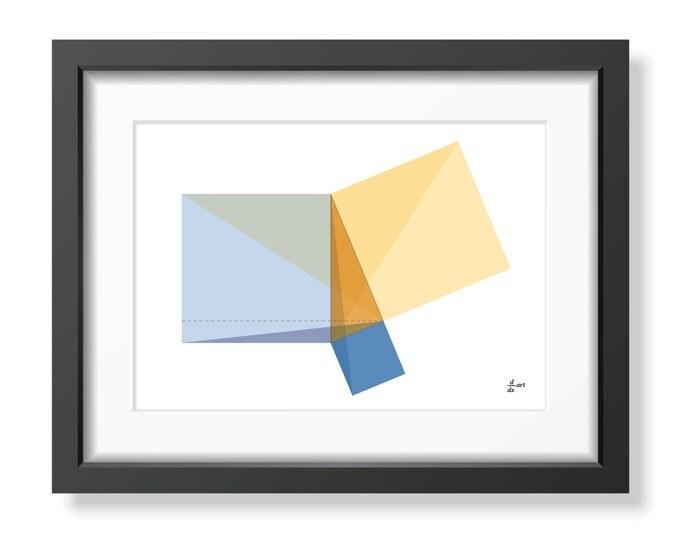 Pythagoras 09 [mathematical abstract art print, unframed] A4/A3 sizes