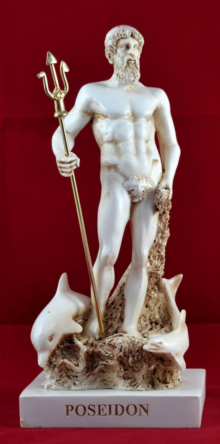 Poseidon greek statue sea god new greek mythology - Poseidon statue greece ...