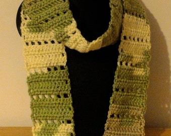 Fringed evening scarf