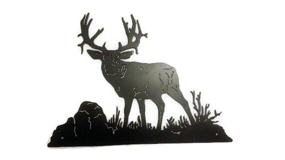 Redneck Wall Decor : Deer metal sign redneck hunting decor
