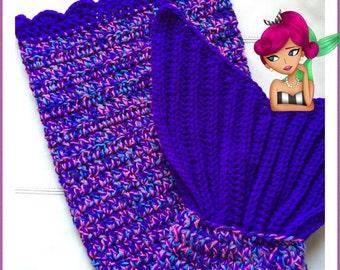 Toddler Mermaid Tail Blanket, Crochet Mermaid Blanket, Crochet Mermaid Afghan