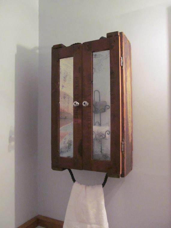 Rustic Mirrored Bathroom Medicine Storage Cabinetrepurposed