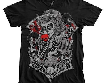 Death Princess Apple Cool Mens Tshirt Skull