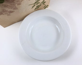 "Vintage Bowl, Reading China, Made in Poland, White Pasta Bowl, Salad Bowl, 9"" Diameter"