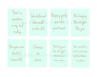motivational happy planner stickers - happy planner stickers - motivational planner stickers - inspirational planner stickers - mint - SET H