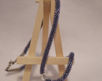 Crochet Rope/Tubal Lavender Necklace