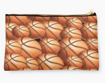 """Personalized 9.5"""" x 6"""" Basketball Pouch"""