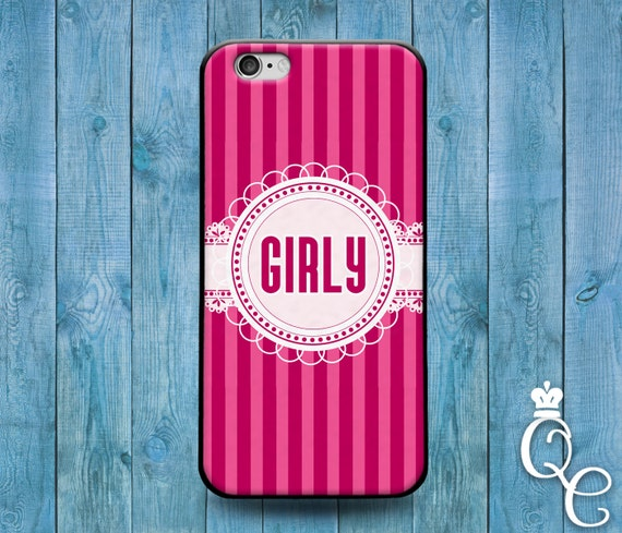 iPhone 4 4s 5 5s 5c SE 6 6s 7 plus iPod Touch 4th 5th 6th Generation Cool Girly Girl Pink Stripes Grad Birthday Christmas Cute Ribbon Case
