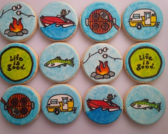 Life is Good Cookies - One Dozen Decorated Father's Day / Retirement Cookies