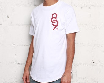 Maroon 6 Keys Curved Hem T Shirt