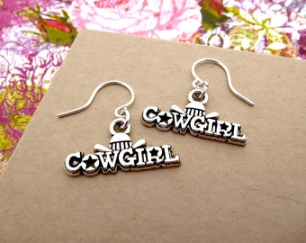 Cowgirl Earrings, Cowgirl at Heart Country Western Earrings - Equestrian Jewelry For Women