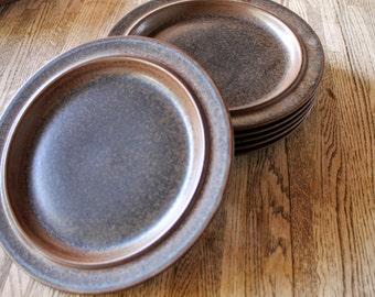 """Set of 2 Dinner Plates Arabia of Finland """"Ruska"""" Pattern"""