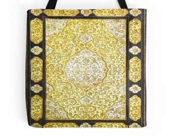 Sacred Gold Book Cover Tote Bag