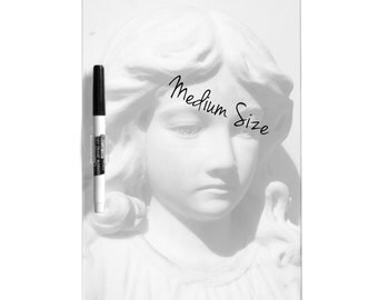 Dry Erase Board w/ Marker, Angel in Mourning, 3 Sizes Available!