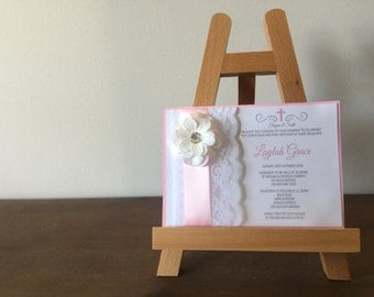 Christening/Baby Shower/Engagement/Wedding flower lace Invitation