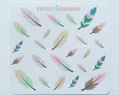 Pastel Feather Stickers