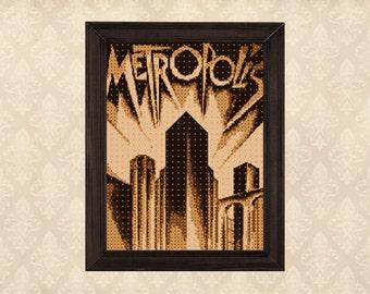 Metropolis Pop Art - Cross Stitch Pattern Pdf DOWNLOAD