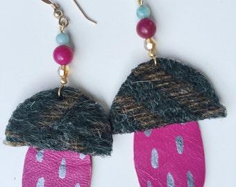 Beaded Earrings,Fruit Series-Sandia Earring