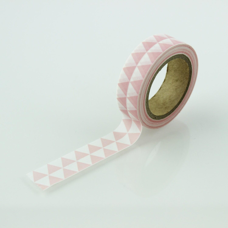 Pink triangle geometric pattern washi tape 15mm for Geometric washi tape designs